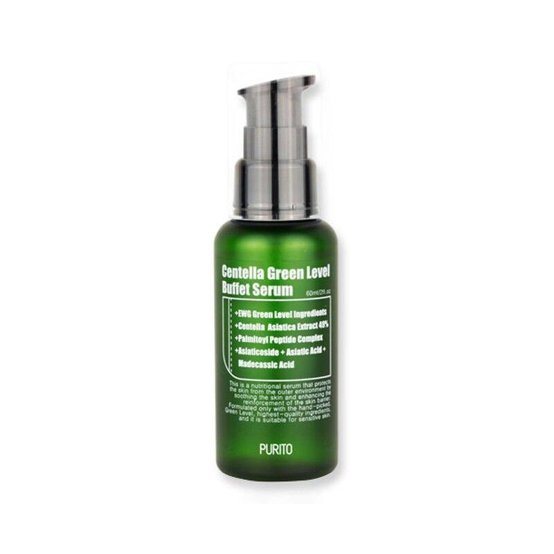 Korea Cosmetic PURITO Centella Green Level Buffet Serum 60ml Face Cream Facial Serum Essence Skin Crea Anti Wrinkle Moisturizing
