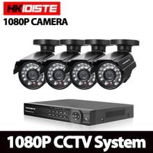 HKISDISTE 1080 P 3000TVL Видеонаблюдения системы видеонаблюдения 8-КАНАЛЬНЫЙ DVR Система Комплект 4 ШТ. 2.0MP ИК Ночного Видения Камеры 8 Канала Комплекты видеонаблюдения
