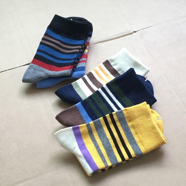 Casual Direct Selling 2019 Standard Modische Mann Glücklich Socken Farbe Streifen Baumwolle Die Neue Kleidung männer Socken (5 teile/los)