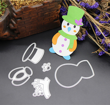 ZhuoAng Scarf Snowman Cutting Dies For DIY Scrapbooking Decoretive Embossing Stencial DIY Decoative Card Die Cutter christmas snowman pattern cutting die for diy