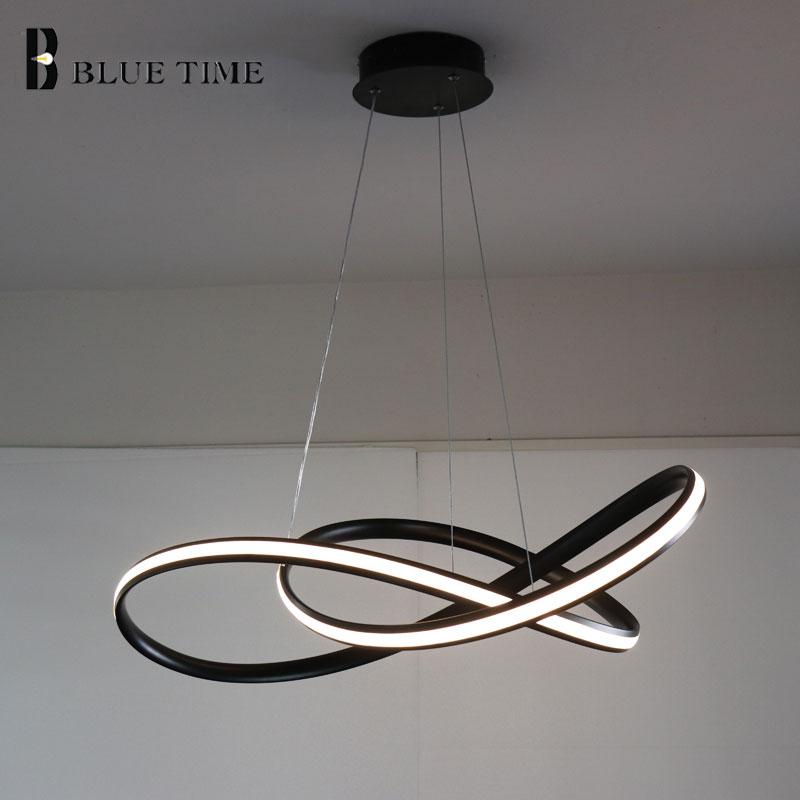 Weiß/Schwarz Moderne LED Anhänger Licht Für wohnzimmer Schlafzimmer esszimmer Hängen Lampe LED Anhänger Lampe Hause Beleuchtung led Glanz