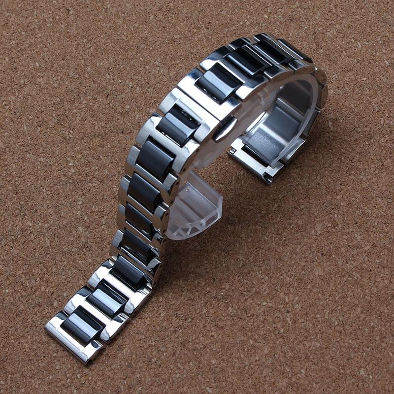 14mm 16mm 18mm 20 22mm Watchband keramisk OG rustfrit stål armbåndrem til Mærke gear S3 Frontier mode implementering