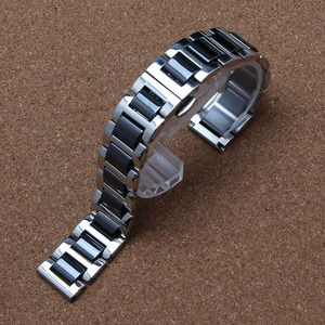 14mm 16mm 18mm 20 22mm Watchband ceramic AND stainless steel watch bracelet strap for BRAND gear S3 Frontier fashion deployment