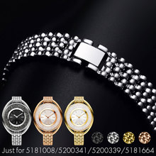 YQ 12MM Stainless Steel Watch band For SWAR 5158517 5158544 5158972 515854 Watch Strap Woman Lady Watch Bracelet+Tools Colorful все цены