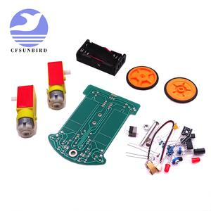 Diy-Kit Automobile-Parts Electronic-Production TT Motor Smart D2-1 Suite Intelligent-Tracking-Line