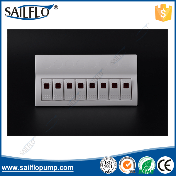 ФОТО 8 Gang HY-AP8-1marine waterproof rocker switch panel ap8 motorhome touch breakers switch panel