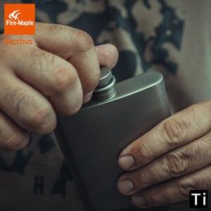 Image 5 - Fogo de bordo titânio hip flask bacchus 200ml 88g drinkware ultraleve escalada caminhadas acampamento ao ar livre uísque flagon