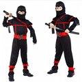 Clássico Trajes de Halloween Cosplay Traje Trajes Ninja Para Crianças Decorações da Festa de Fantasia Suprimentos de Artes Marciais Uniformes