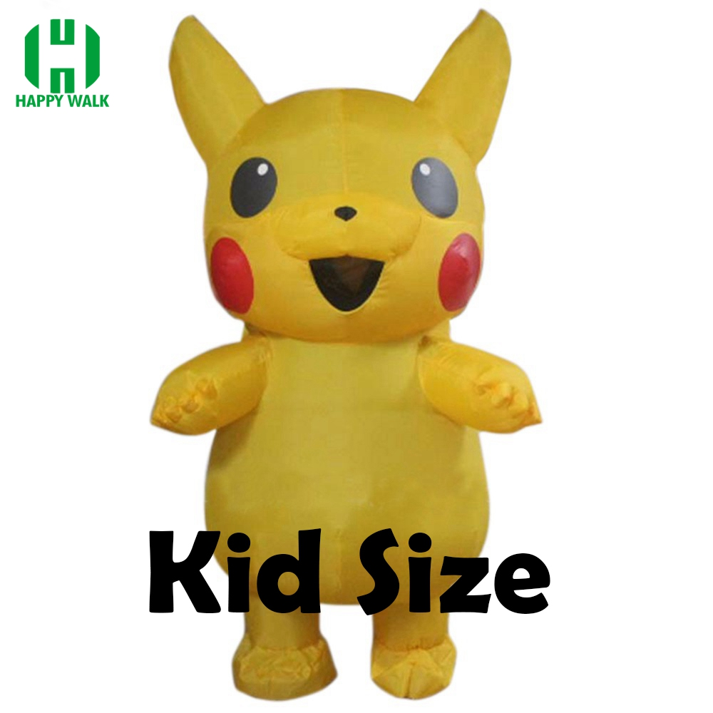 New Sale Children Pikachu Inflatable Costume Halloween Christmas Funny Costume For 0.9m-1.3m Kid Party Activities Props Costumes