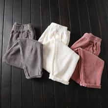 Pantalon femme en velours côtelé grande taille 3XL, sarouel, taille élastique, automne et hiver décontracté, C4856