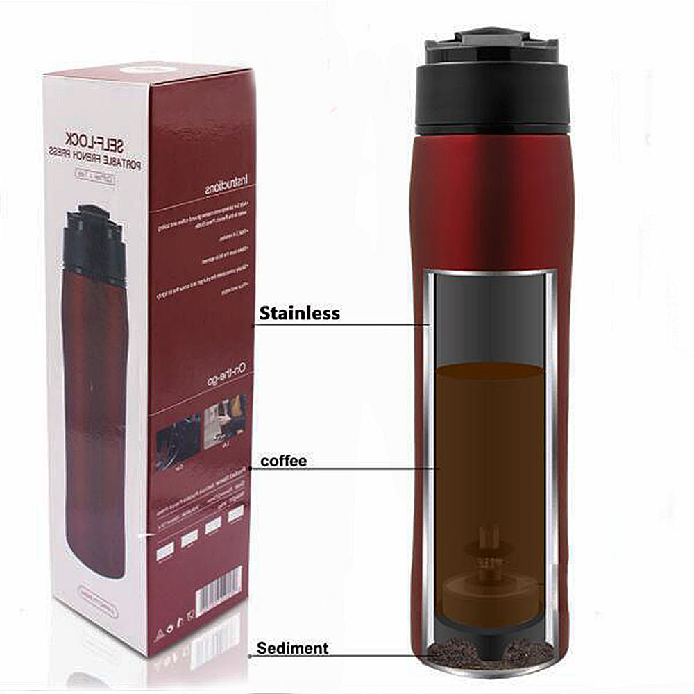 French Press Coffee Maker Stainless Steel 350ml