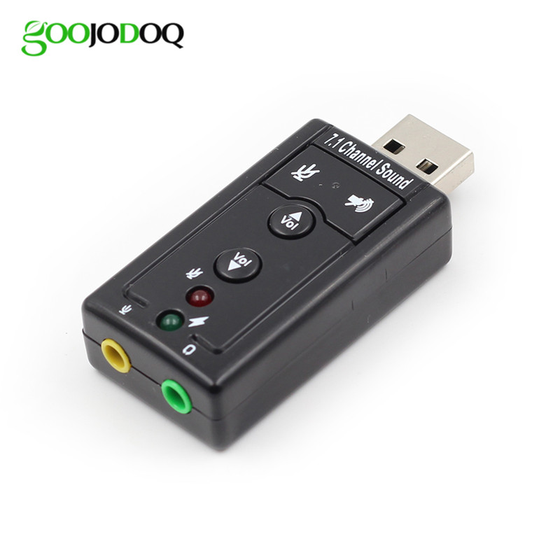 7.1 Channel 3D External USB Audio Sound Card Mic Adapter 3.5mm Jack Stereo Headset For Win/XP/7/8 Android Linux for Mac ios G03