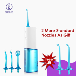 SOOCAS W3 portable oral irrigator dental electric water flosser USB rechargeable floss waterproof teeth mouth clean jets Xiaomi