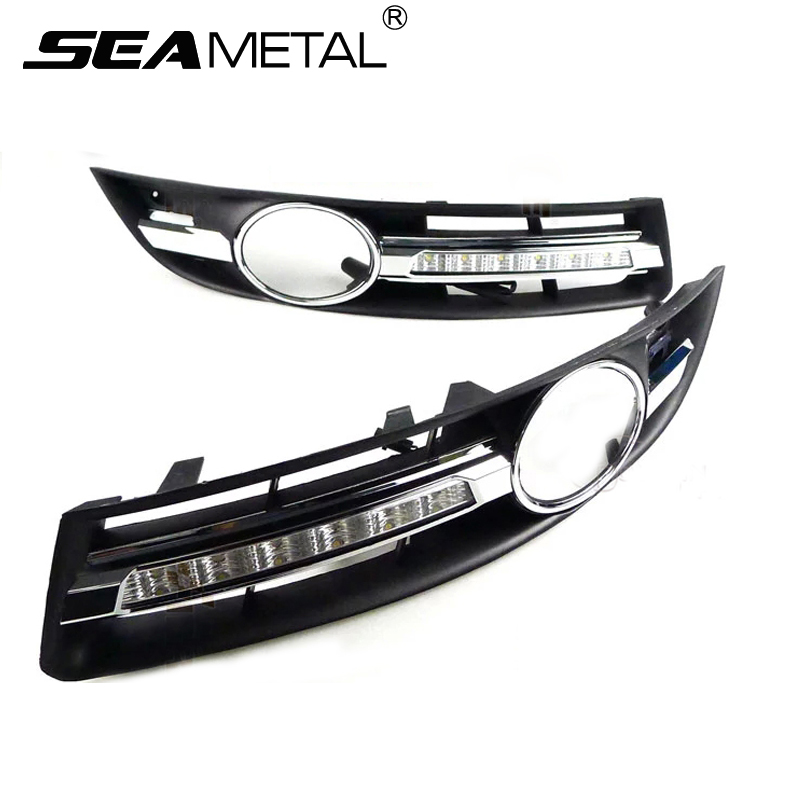 Car Fog Lights For Volkswagen VW Passat B6 2005 2006 2007 2008 2009 2010-2014 Car Modification 12V LED DRL Daytime Running Light daytime running light for vw volkswagen passat b6 2007 2008 2009 2010 2011 led drl fog lamp cover driving light