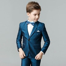 Fashion hoge kwaliteit kids jongens formele pakken kids blazer heren pak tiener kids school suits wedding suits 4-14Yrs