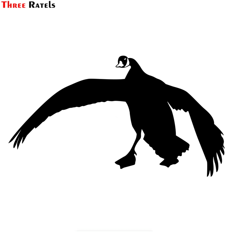 Three Ratels TZ-1456#13.7*24.5cm Flying Goose Car Stickers Funny Auto Sticker Decals