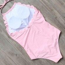 2017 Hot Wave Design One Piece Swimsuit Women Pure Swimwear Padded Sexy Bikini Plus Size Beach Bathing Suit XL