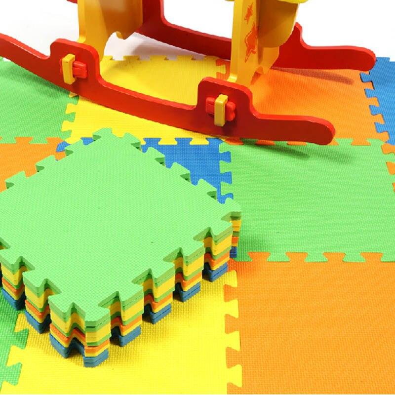 10pcs/Set DIY Baby Puzzle Carpet Play Floor Mat EVA Kids Solid/Numbers/Fruits/Animals Stitching Foam Pads 30x30CM TB Sale