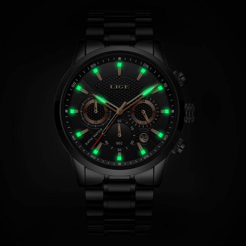 Relogio Masculino 2019 LIGE Mens Watches Top Luxury Brand Business Quartz Watch Men Military Sports Waterproof Dress Wrist Watch