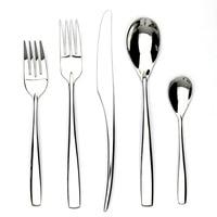 Jankng 5 قطعة/الوحدة عالية الجودة مطلي طاولة المائدة تعيين المقاوم للصدأ والسكاكين عشاء سكين شوكة مرآة تلميع المائدة مجموعة