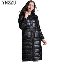 YNZZUใหม่ในช่วงฤดูหนาวของผู้หญิงลงเสื้อลำลองยาว