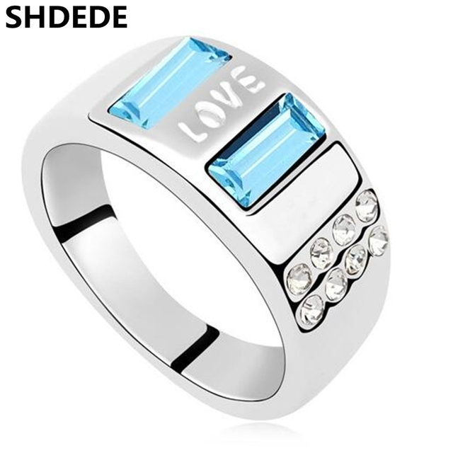 SHDEDE Fashion Charm Jewelry Crystal from Swarovski Engagement Rings
