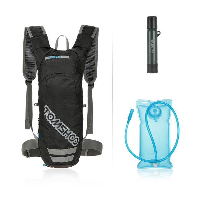884eb872d68 TOMSHOO Hydration Pack Waterzak Rugzak Running Tas met 2L Blaas + 1500L  Waterfilter Stro voor Camping
