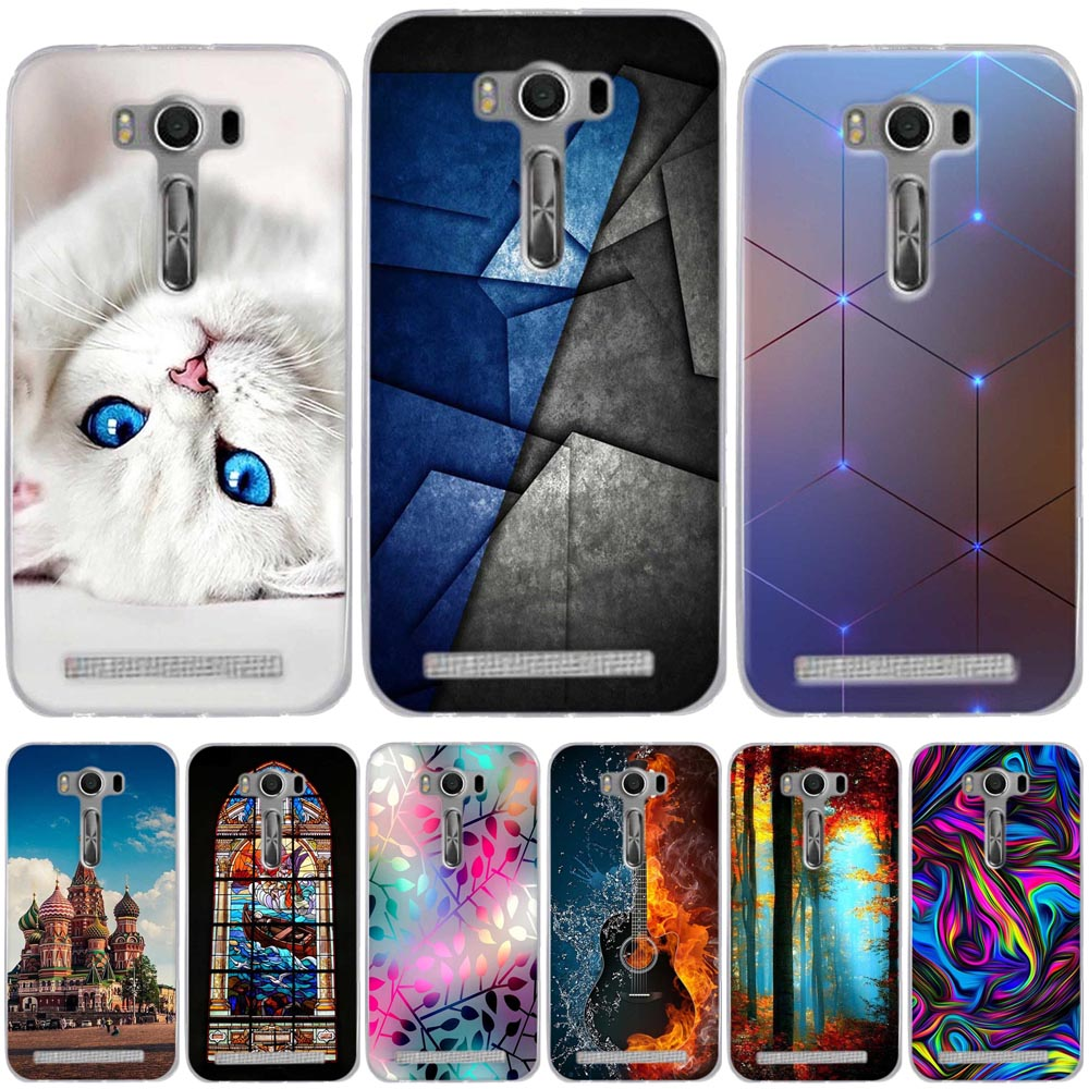 For <font><b>Asus</b></font> Zenfone 2 Laser ZE500KL ZE500KG Case Soft TPU Cover For Zenfone 2 Cover Cases For <font><b>ASUS</b></font> Zenfone 2 Laser 5.0