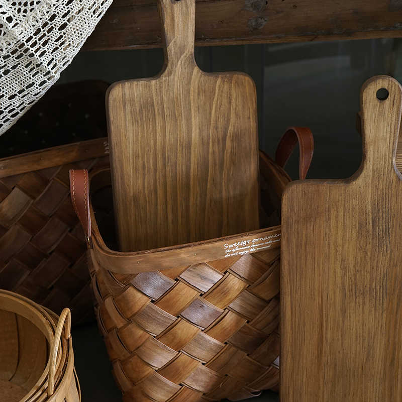 Деревянные стеллажи для хранения Корзина для пикника подставка для торта лесной Стиль Домашний витрина украшения держатели кухня и бар десертный стол