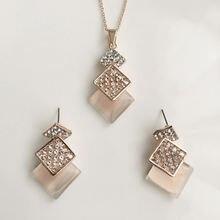 (Комплект) 2020 новое модное ожерелье в стиле ретро панк с кристаллами