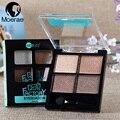 Wodwod 4 colores brillo paleta de sombra de maquillaje cosmético neutral nude color de tierra impermeable sombra de ojos ahumados maquillaje maquiagem