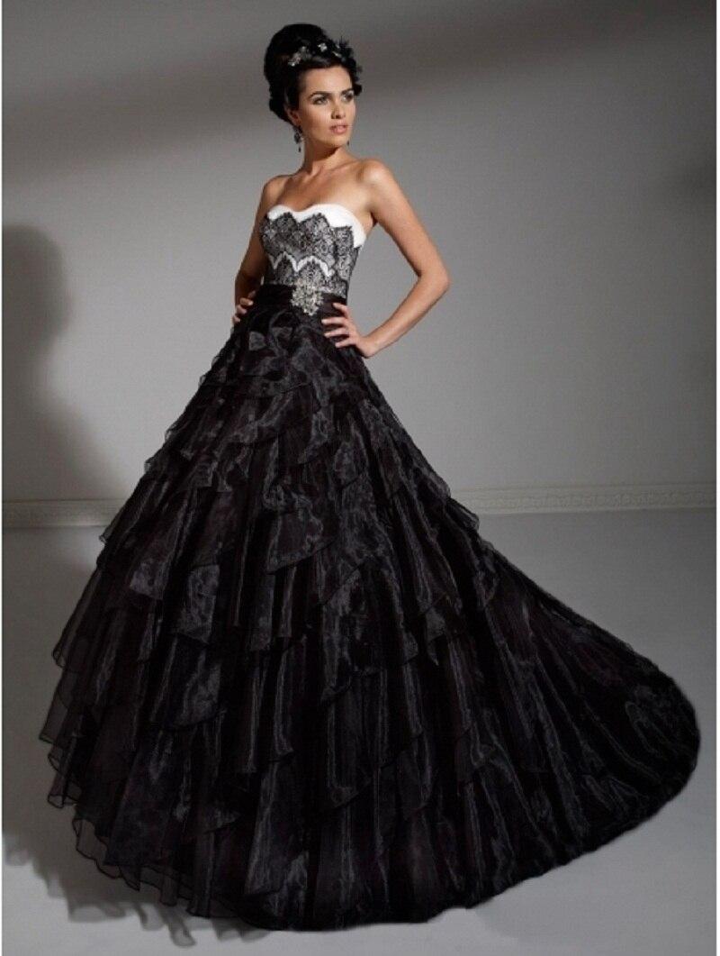 Black Vintage Wedding Dresses