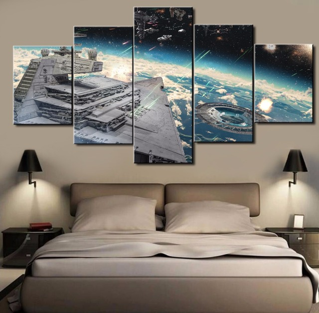 Star Wars Galaxy Poster Canvas Framed or Not