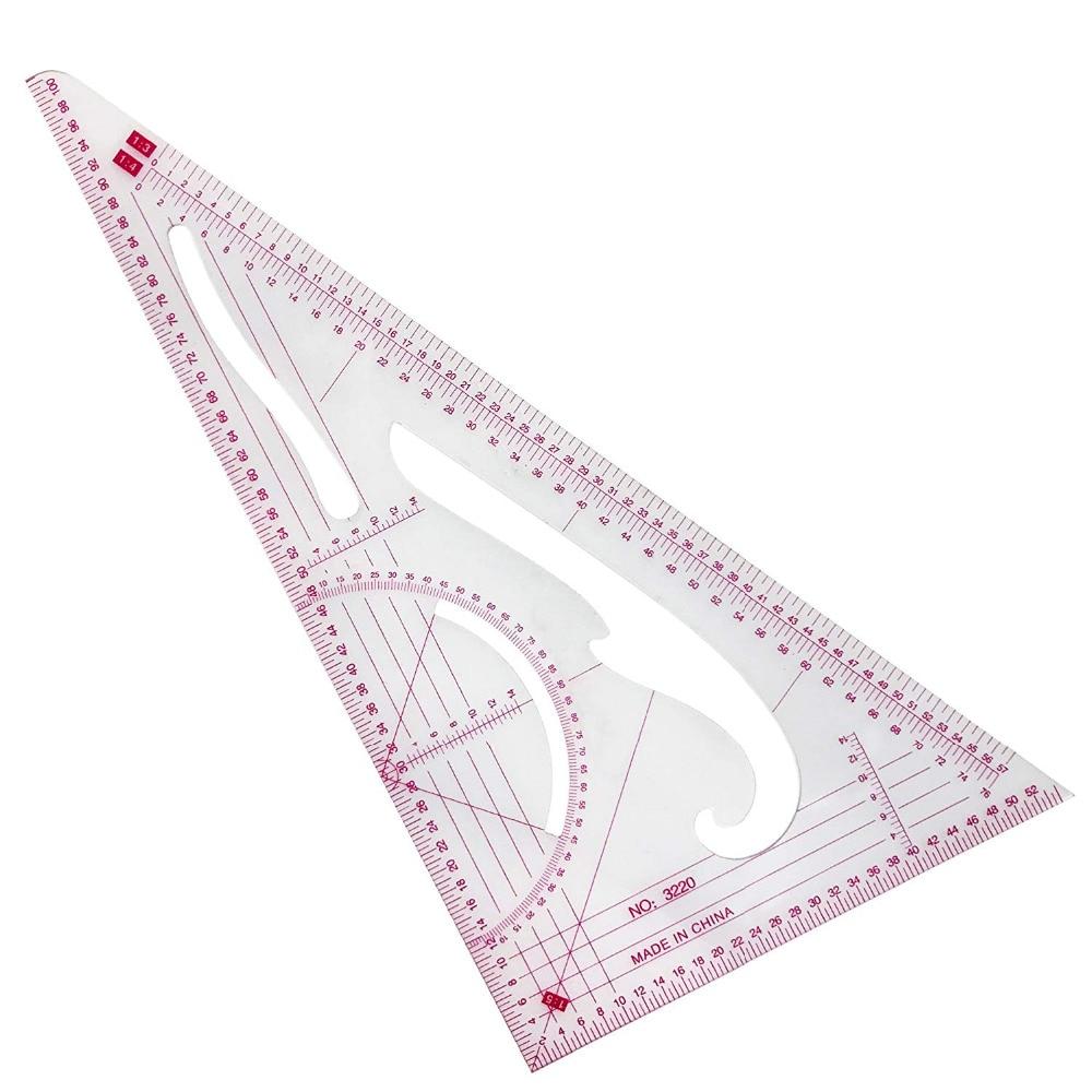 Multi Triangular Ruler Measure Dressmaking Tailor Supplies Sewing Tool LU