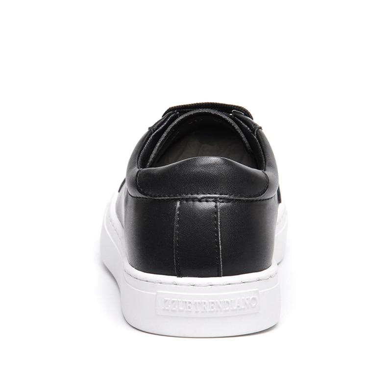 Reetene Arrivée White Chaussures Homme Zapatos white Chaussure Automne Cuir Casual black Hombre Plat Edge En 2017 Nouvelle Black Hommes Printemps ETTFr