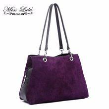 61833f4126 Mlle Lulu Femmes Réel Véritable Daim Italien sacs à main en cuir Dames Hobo  sacs à bandoulière sac fourre-tout vintage Multi Com.