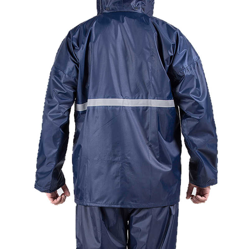 Rainfreem كتيمة المطر النساء/الرجال مزدوجة الطبقات هود معطف المطر التخييم النارية المطر والعتاد المطر المعطف