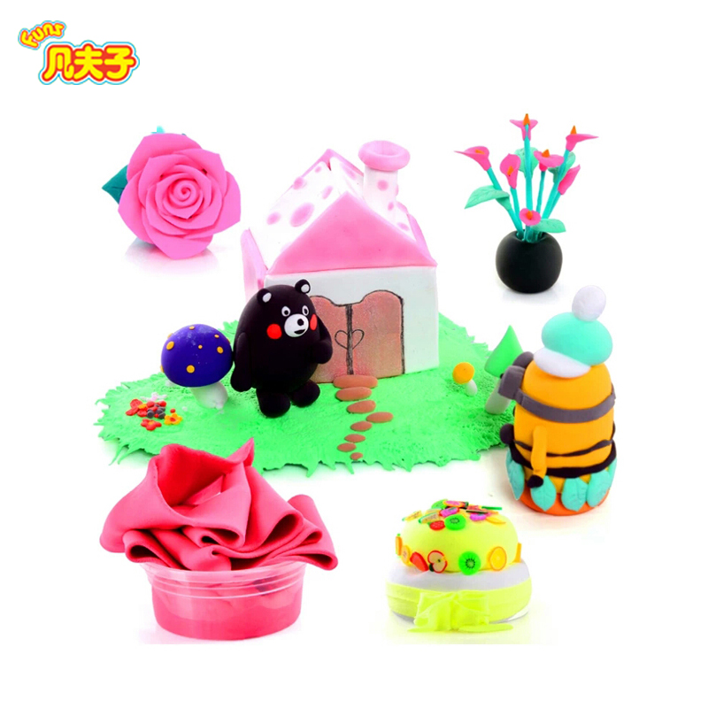 Genuine new  3 ways of packing 13g colorful Super light clay Air drying Soft Polymer with Educational toy Plasticine slime toys
