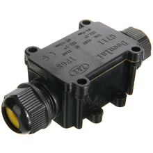 цена на 2 Way IP68 Outdoor Waterproof Cable Connector Junction Box Black Electrical Junction Box Wire Protection for Street Lamp