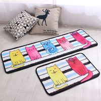Cartoon Pattern Kitchen Bath Mat Absorbent Bathroom Carpet Anti Slip Floor Rug Pad Living Room Doormat 2pcs/set Soft Feet Pads