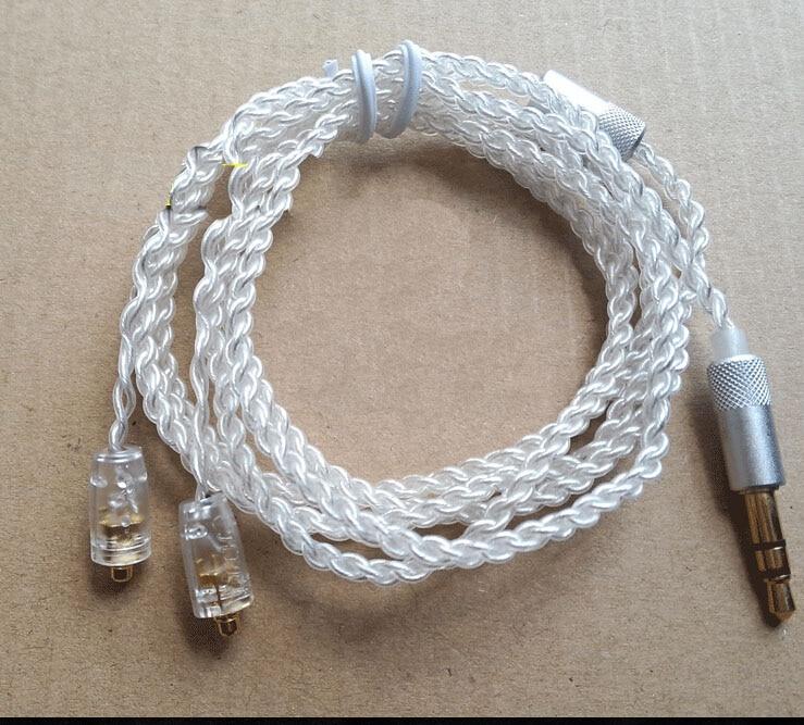 3,5mm Silber überzog qualität DIY weben Kopfhörer kabel Kopfhörer ...