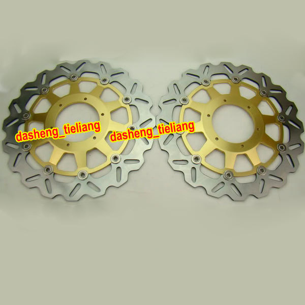 Motorcycle Front Brake Disc Rotors For Honda 2000 2001 CBR 929RR / 929 RR & 2002 2003 CBR 954RR / 954 RR, Gold Color 9 color cnc brake clutch levers blade for 2000 2001 honda cbr929rr cbr 929 rr