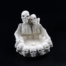 3D Skull Silicone Candle Mold Handmade Soap Making Tool Skeleton Halloween Mould