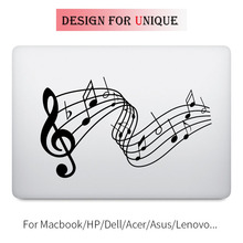 Music Melody Notes Laptop Decal for Apple Macbook Decal Pro Air Retina Touch Bar 11 12 13 15 inch Vinyl Mac Mi Book Skin Sticker