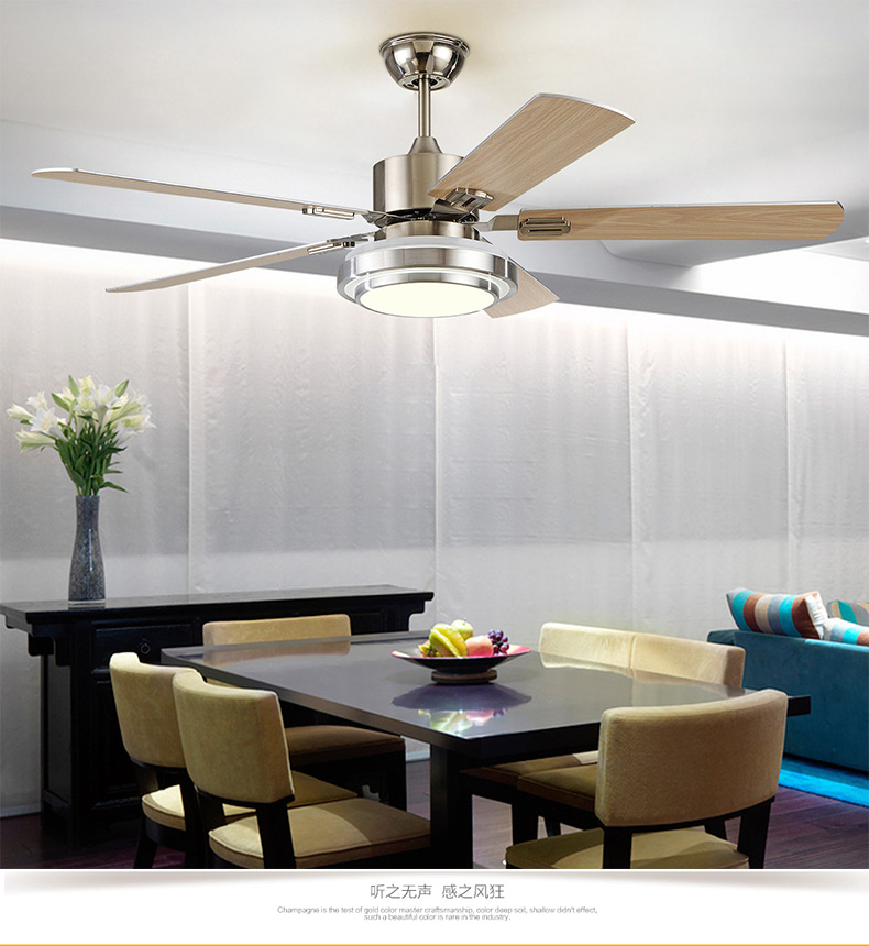 Ceiling fan restaurant with a bedroom living room lamp ceiling fan lamp iron fan leaf shipping Wall control ZA FS2 ...