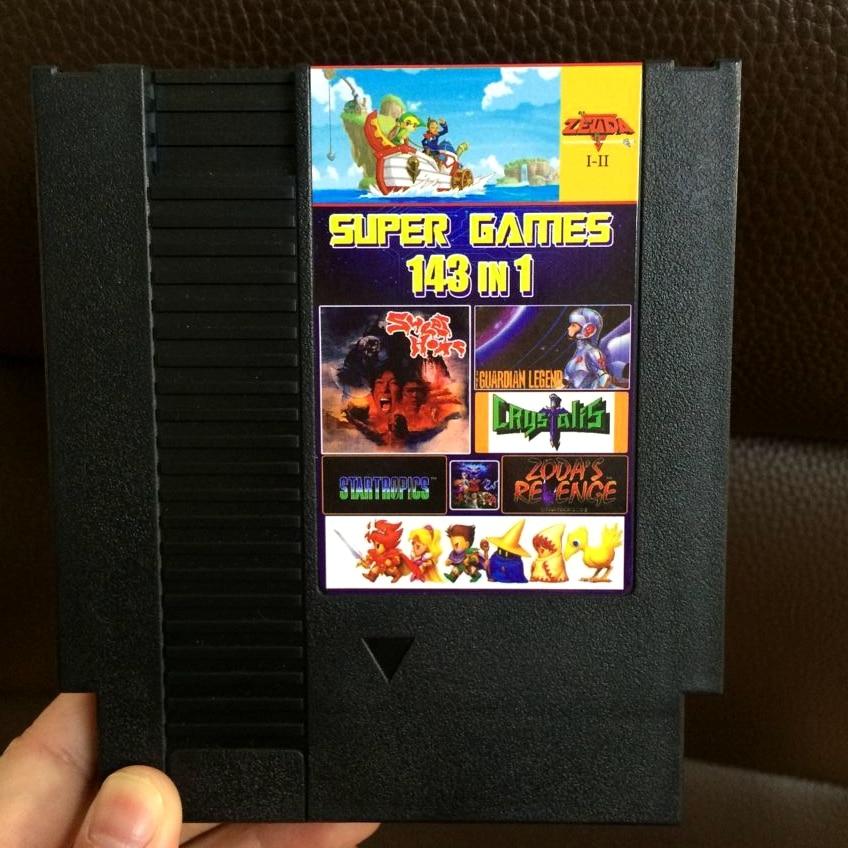 Superior 72 Pins 8 bits juego cartucho 143 en 1 con juego Earthbound Final Fantasy 1 2 3 Kirby