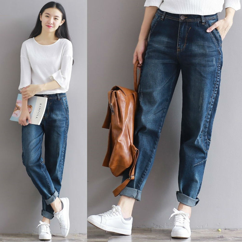2018 Winter New Loose Jeans Female Korean Style All Match -1799