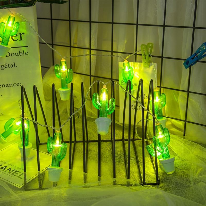 Green Fairy String Cactus Light Lamp Wedding Xmas Outdoor Indoor Room Decoration
