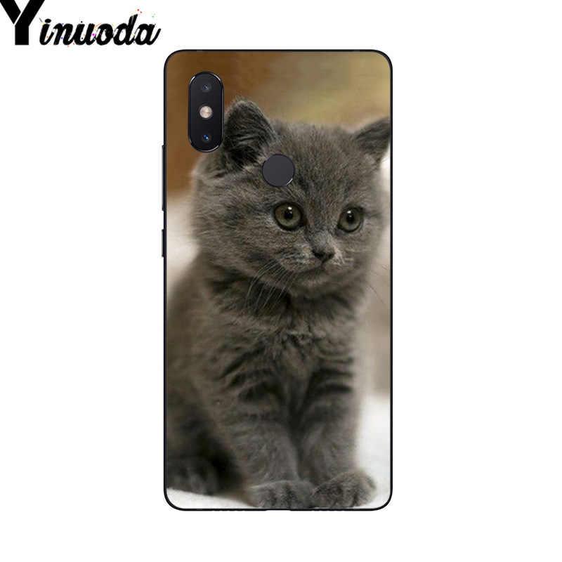 Yinuoda negro gato de dibujos animados tigre blanco teléfono Rosa funda para xiaomi mi 6 mi x2 mi x2S Note3 8 8SE Redmi 5 5Plus Note4 4X Note5