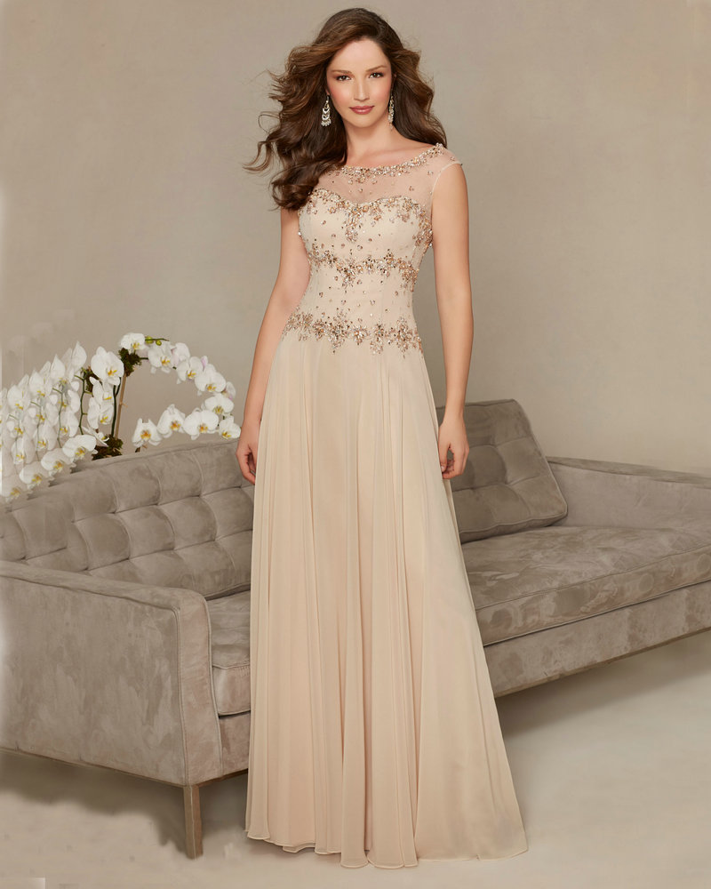 Long Gowns For Wedding Guests: Style 71303 Champagne Navy Blue Formal Dresses For Wedding